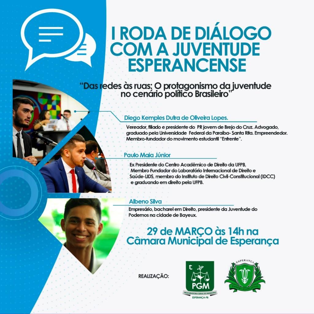 I Roda de Diálogo com a Juventude Esperancense